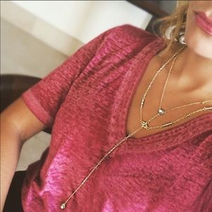 "Kendra Scott ""coby"" gold y necklace"